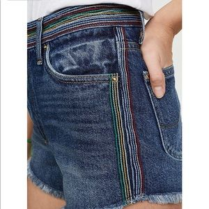 Lee Rainbow 🌈 Stitch High Waisted Shorts